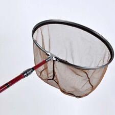 27cm Dense Brail Landing Brown Net Portable Fishing Tackle Aluminum Fishing Net