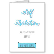 Unique Typographic Self Isolation Get Well Soon Netflix Catch Up Card / Gift