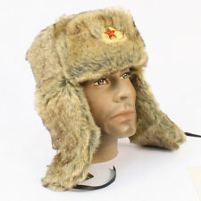 Mil-Com Russian Cossack Style Winter Hat with Ear Flaps Small Only