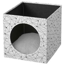 Ikea Lurvig Cat house with pad, white/light gray 13x15x13 New 493.174.94