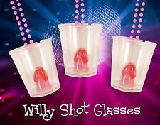 20 Hen Party Do/Willy Shot Glasses 84cm Pink Necklace Accessory Hen night glass