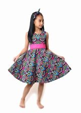 NEW Kid Girl Spring Summer Bohemia Dress Headwear Outfit Multcolor SZ 5-6 Z2A
