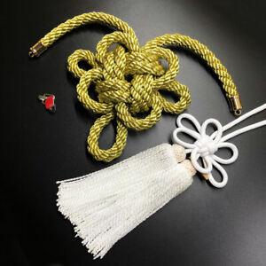 1Set JDM New Modle Junction Produce Gold Kintsuna White Fusa Kiku Knot Ornaments