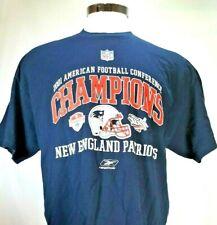 2001 American Football Conference CHAMPIONS New England Patriots Reebok Shirt XL