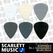 "6 x Jim Dunlop Nylon Mixed "" Greys "" Assorted Gauge Guitar Picks / Plectrums"