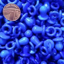 20 X Blue Dummy Charms Key Rings Jewellery Crafts Baby Shower Favours