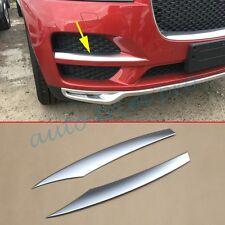 2X Chrome Head Front Grill Lid Cover Stripe Trim Fit For Jaguar F-Pace X761 2017