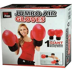 JUMBO AIR BOXING GLOVES INFLATABLE FUN KIDS ADULTS GIFT XMAS SPORTS PARTY