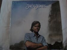 JACK JONES WHAT I DID FOR LOVE VINYL LP 1975 RCA VICTOR AFTER THE LOVIN', SHE EX