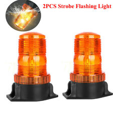 2pcs Led Warning Strobe Light Amber Rotating Safety Beacon Lamp Forklift Truck