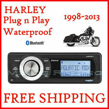 AQUATIC AV HARLEY DAVIDSON BLUETOOTH REPLACEMENT RADIO FITS, 98-2013 AQ-MP-5BT-H