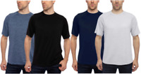 Glacier 2 Pack Performance Mens Everyday Tee T-Shirts L PREOWNED