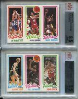 1980 Topps Basketball Larry Bird & Magic Johnson Rookie Cards Erving BVG 8.5