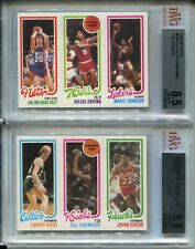 1980 Topps Basketball Larry Bird & Magic Johnson Rookie Cards Erving BVG 8.5