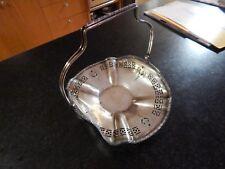 Vntg Sheffield Apollo Nickel Silver Basket Pierced Design 3394 Christmas Holiday