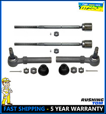 Set of 4 - 2 Front Inner and 2 Outer Tie Rod Ends For a 1994 - 2004 Ford Mustang