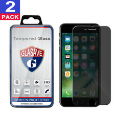 2Pack GLASAVE iPhone 8 Plus 5.5 Anti Spy Privacy Tempered Glass Screen Protector