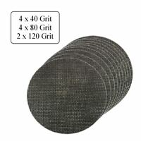 10 x Assorted Grit Hook and Loop 125mm Mesh Sanding Discs, Orbital Sander Sheets