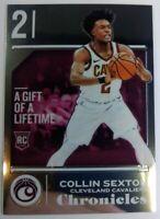 2018 18 Panini Chronicles Chrome Foil Collin Sexton Rookie RC #522, Cavaliers