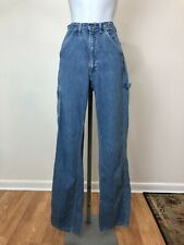 Vintage 1970s Lee Carpenter Blue Jeans, Carpenter Pockets