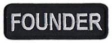 Motorcycle Biker Jacket/Vest Patch - Founder - Member Rank, Position, Status