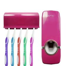5 Toothbrush Holder Set Wall Mount Stand Automatic Toothpaste Dispenser 1pc