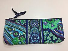 Vera Bradley Blue Rhapsody Brush and Pencil Case Coloring Cosmetic Bag (T)