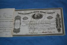Santo Domingo Silver Mining Co, Batopilas, Chihuahua, Mexico, 1871 shares