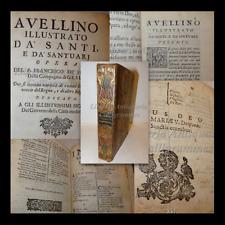 Antica Legatura, De Franchi AVELLINO ILLUSTRATO da' SANTI e SANTUARI 1709 Napoli