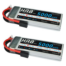 2pcs HRB 11.1V 5000mAh 3S Lipo Battery 50C Traxxas for RC Traxxas Slash 4x4 Car