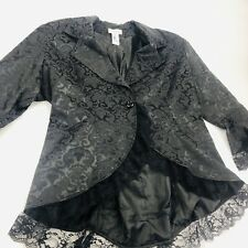 Chic Star Victorian Style Jacket 24 Black High Low Steampunk Cosplay Gothic