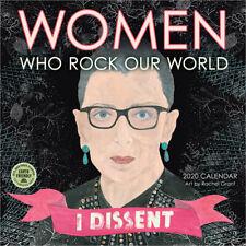 """2020 Women Who Rock Our World , 12"""" x 12"""", Wall Calendar, Rachel Grant"""