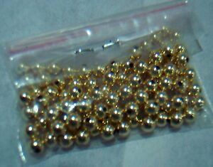SALE DIY 14K Gold ( 585 ) Filled Bali Beads Round Suasa Craft Jewelry Making
