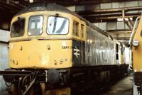 PHOTO  CLASS 33 LOCO NO 33040 - 33063 - DB79401 AT HITHER GREEN DEPOT 1991