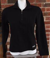 Colmar Womens Sz M Medium Black 1/2 Zip Light Pullover Jacket Top Made in Italy