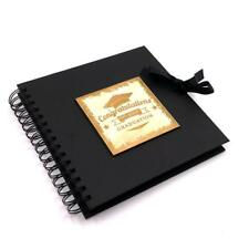 Raised Words Graduation Book Black Scrapbook Photo Album BLSCR-8