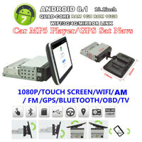 "Android8.1 4-CORE 1Din 10.1"" Car Radio Stereo MP5 Player GPS Sat Navigator 1+16G"