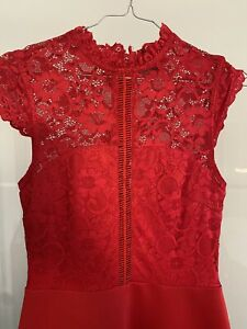 asos abendkleid Rot Kleid Grösse 36 Spitze
