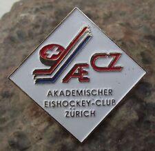 AE CZ Akademischer Eishockey Club Zurich Ice Hockey Academy Tie Pin Jacket Badge
