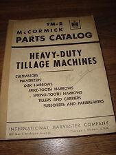International Harvester IH TM-2 Heavy-Duty Tillage McCormick Parts Catalog