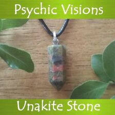 Unakite Crystal Healing Point Psychic Visions 3rd Eye GEMSTONE Pendant Necklace
