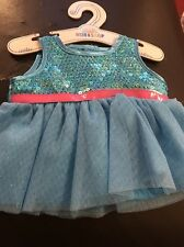Build a bear turquoise sequin robe
