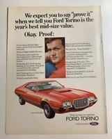 1972 Ford Gran Torino Sport Original Advertisement Print Ad Car Auto 2 Door