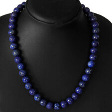 TRUELY BEAUTIFUL AAA BEST 358.00 CTS NATURAL SHINING LAPIS LAZULI BEADS NECKLACE