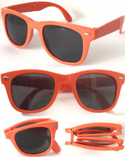 Y1152F Fordable Wayfare UV400 Protect Sunglasses Stylish 80's Retro Geek Design