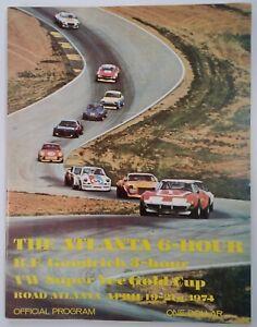 Road Atlanta Official Program Vtg 1974 Rare VHTF Petty Gremlin Porsche VW Ads!