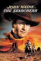 "Reproduction ""The Searchers"" Movie Poster, Vintage Print, John Wayne, Western"