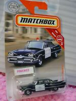 2019 Matchbox #43 '59 DODGE CORONET POLICE CAR☆black; CHIEF☆Rescue☆case N