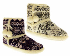 Booties Standard (B) Fair Isle, Nordic Slippers for Women