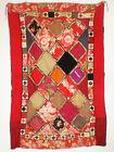 "Antique Tribal Lakai Uzbek Hand Sewn Embroidered Susani Textile Wall Hanging 68"""